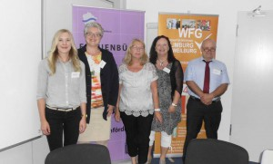 Sie organisierten den Existenzgründerinnentag in Limburg: (Von links) Marina Diekmann, Manuela Seubert, Ute Jungmann-Hauff, Iris Angrick und Walter Gerharz