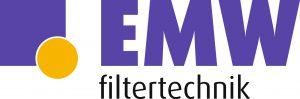 """Logo mit Schriftzug """"EMW filtertechnik"""" farbig, weisser Hintergrund"""