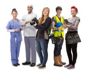 young people jobs Group iStock-Ausbildung_mix